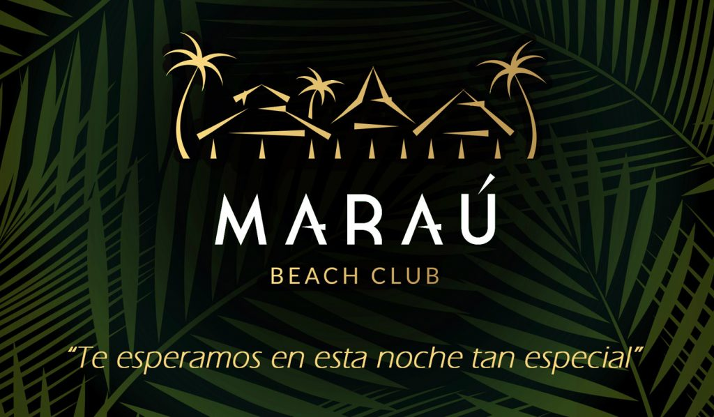 Cartel inauguración Maraú Beach Club
