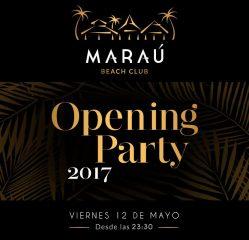 Cartel Fiesta inauguración Maraú Beach Club