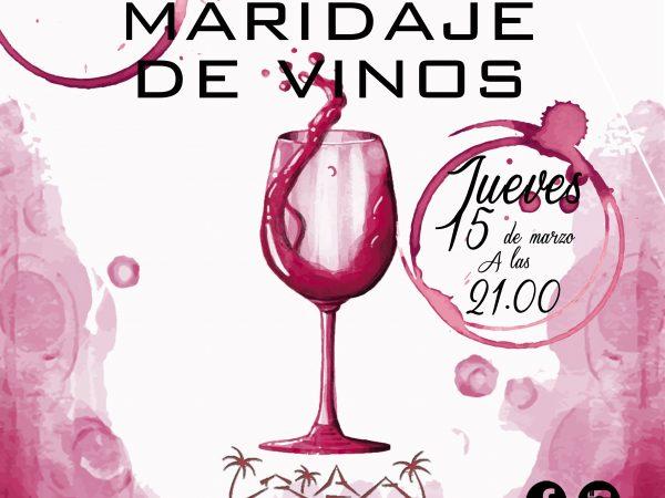 Cartel cata maridaje de vinos en restaurante Maraú Beach Club