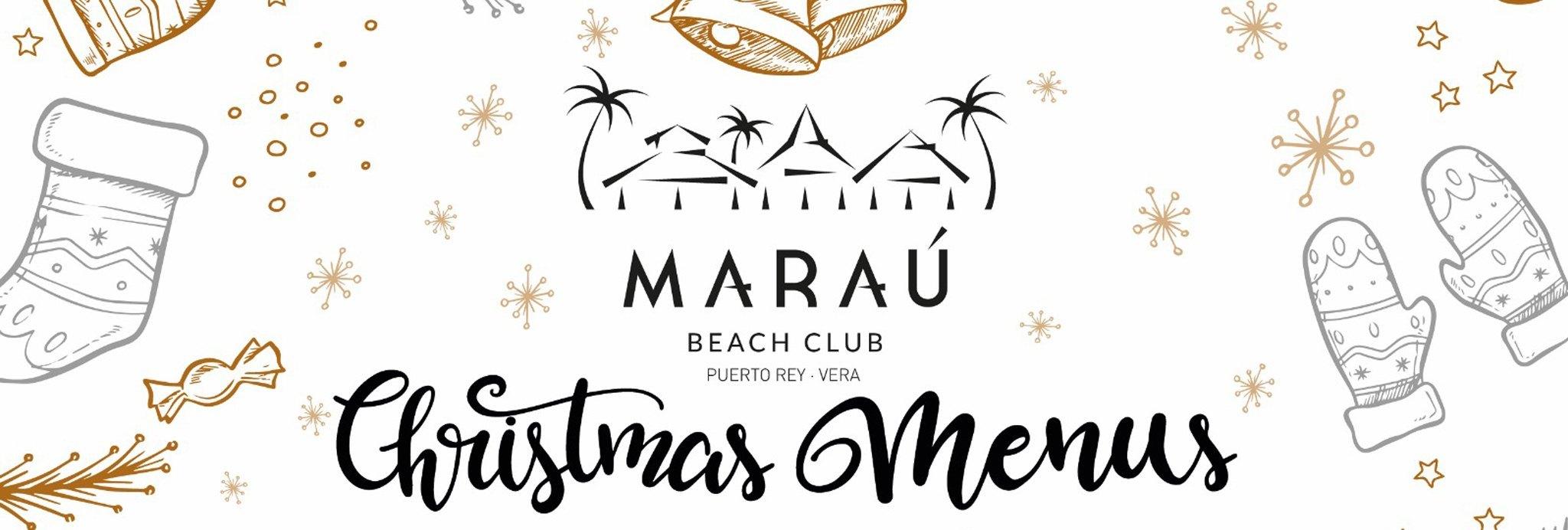 Menús grupos Navidad 2018 Restaurante Maraú Beach Club